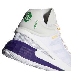 adidas D Rose 11 Basketball Shoes, White, rebel_hi-res