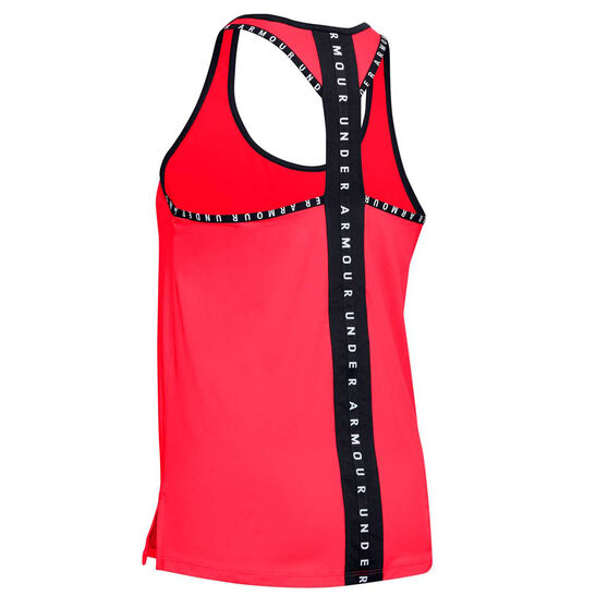 Under Armour Womens Knockout Tank, Red, rebel_hi-res