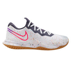 Nike Air Zoom Vapor Cage 4 Hardcourt Mens Tennis Shoes White / Crimson US 7, White / Crimson, rebel_hi-res