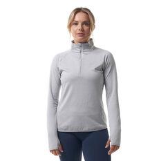 Ell & Voo Womens Hayley 1/4 Zip Brushed Fleece Top Grey XXS, Grey, rebel_hi-res