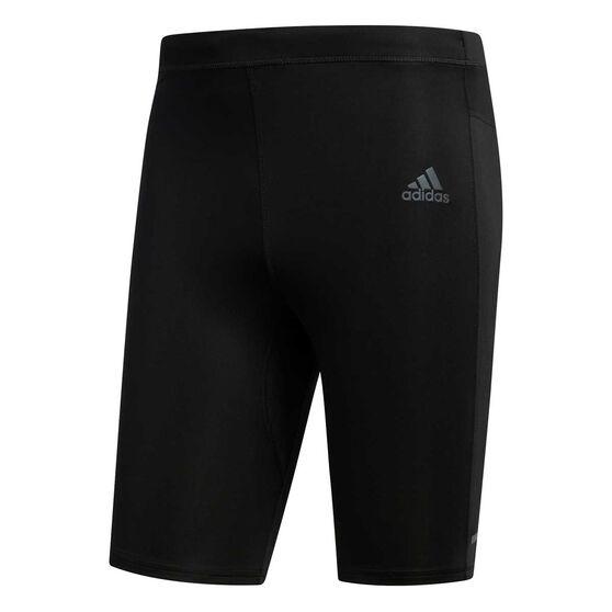 adidas Mens Own The Run Short Tights, Black, rebel_hi-res
