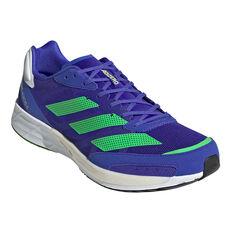 adidas Adizero Adios 6 Mens Running Shoes, Blue/White, rebel_hi-res
