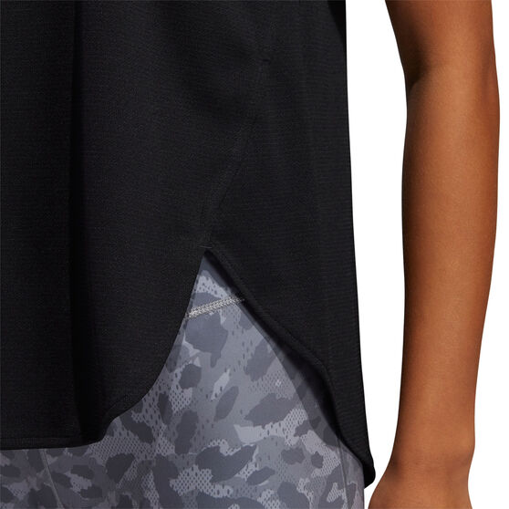 adidas Womens 3 Bar Logo Tank, Black, rebel_hi-res