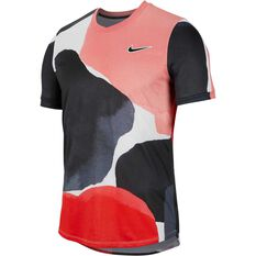 Nike Court Mens Challenger Tennis Tee Print XS, Print, rebel_hi-res