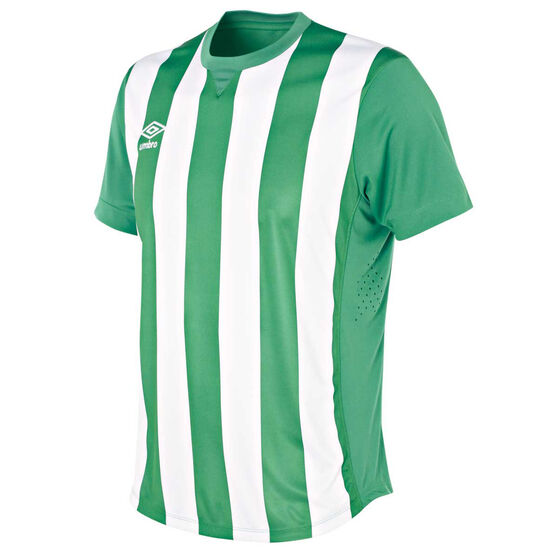 Umbro Kids Striped Jersey, Green / White, rebel_hi-res