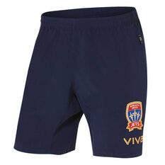 Newcastle Jets FC 2019/20 Mens Coaches Shorts Navy S, Navy, rebel_hi-res