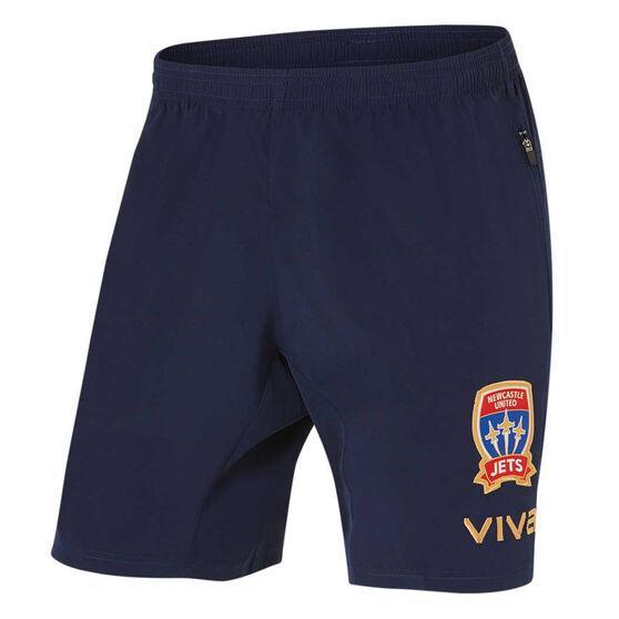 Newcastle Jets FC 2019/20 Mens Coaches Shorts, Navy, rebel_hi-res
