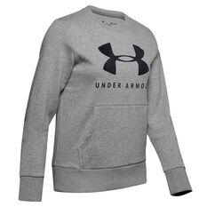 Under Armour Womens Favourite Fleece Sportstyle Graphic Sweatshirt Black XS, , rebel_hi-res