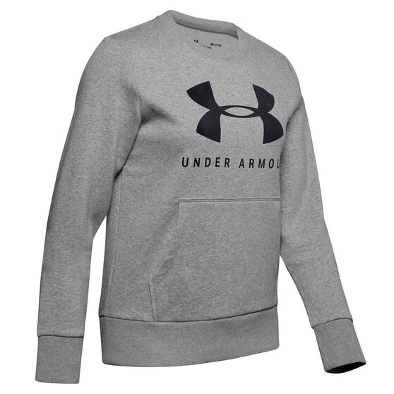 Under Armour Womens Favourite Fleece Sportstyle Graphic Sweatshirt, , rebel_hi-res