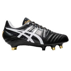 Asics GEL Lethal Tight Five Rugby Boots Black / White US Mens 9 / Womens 10.5, Black / White, rebel_hi-res
