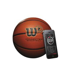 Wilson X Connect Basketball Orange 6, , rebel_hi-res