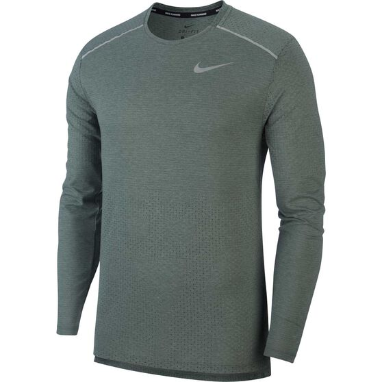 Nike Mens Rise 365 Long-Sleeve Running Top, Green, rebel_hi-res