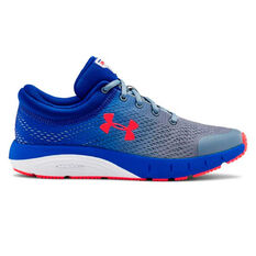Under Armour Charged Bandit 5 Kids Running Shoes Blue / Red US 5, Blue / Red, rebel_hi-res