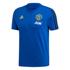 Manchester United 2019/20 Mens Training Tee Blue XS, Blue, rebel_hi-res