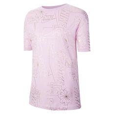 Nike Womens Icon Clash Sportswear Tee Pink XS, Pink, rebel_hi-res