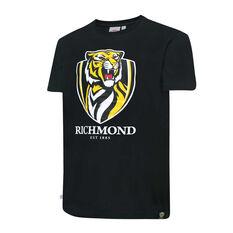 Richmond Tigers Mens Supporter Logo Tee Black S, Black, rebel_hi-res