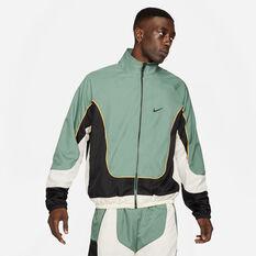 Nike Mens Throwback Basketball Jacket Green S, Green, rebel_hi-res