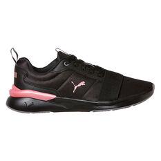 Puma Rose Plus Womens Casual Shoes Black US 6, Black, rebel_hi-res