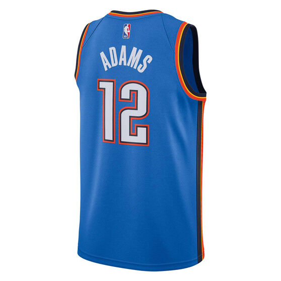 innovative design b1ec9 a5281 Nike Oklahoma City Thunder Steven Adams 2019 Mens Icon Edition Swingman  Jersey