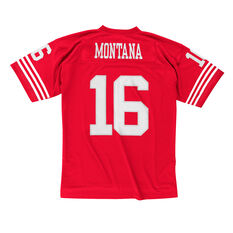 San Francisco 49ers Joe Montana Mens Legacy Jersey Red S, Red, rebel_hi-res
