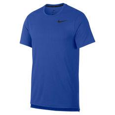 Nike Mens Breathe Training Tee Blue S, Blue, rebel_hi-res