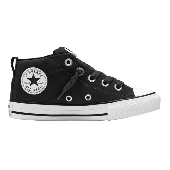 5d6a51dca5ca Converse Chuck Taylor All Star Street Suede Mid Cut Kids Casual Shoes Black    White US