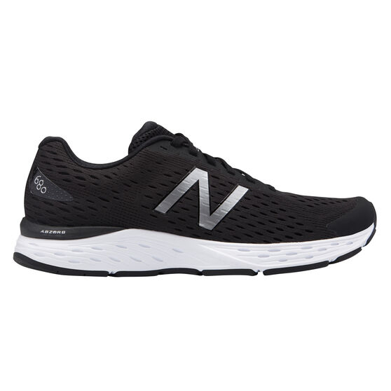 New Balance 680 v5 Mens Running Shoes, Black / White, rebel_hi-res