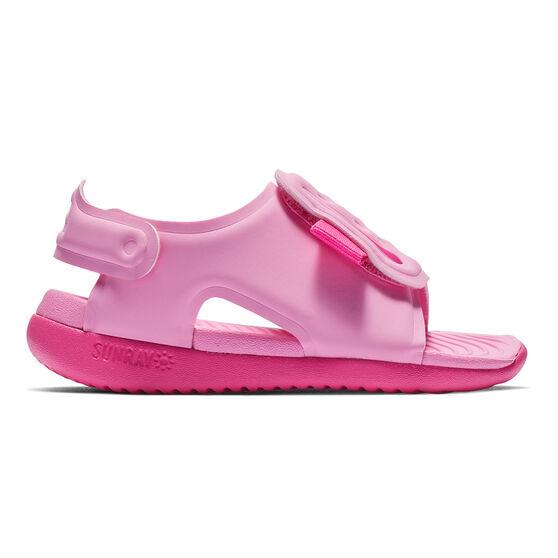 Nike Sunray Adjust 5 Toddlers Sandals, Pink, rebel_hi-res
