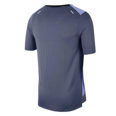 Nike Mens Rise 365 Future Fast Running Tee Blue S, Blue, rebel_hi-res