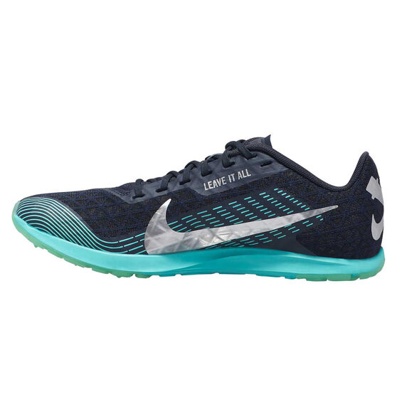 Nike Zoom Rival Waffle Track Spikes, Blue/Silver, rebel_hi-res