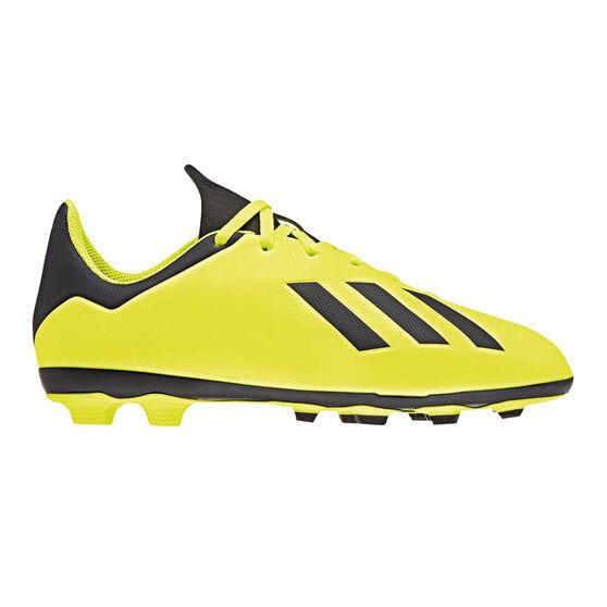 adidas X 18.4 FXG Junior Football Boots Yellow / Black US 6, Yellow / Black, rebel_hi-res