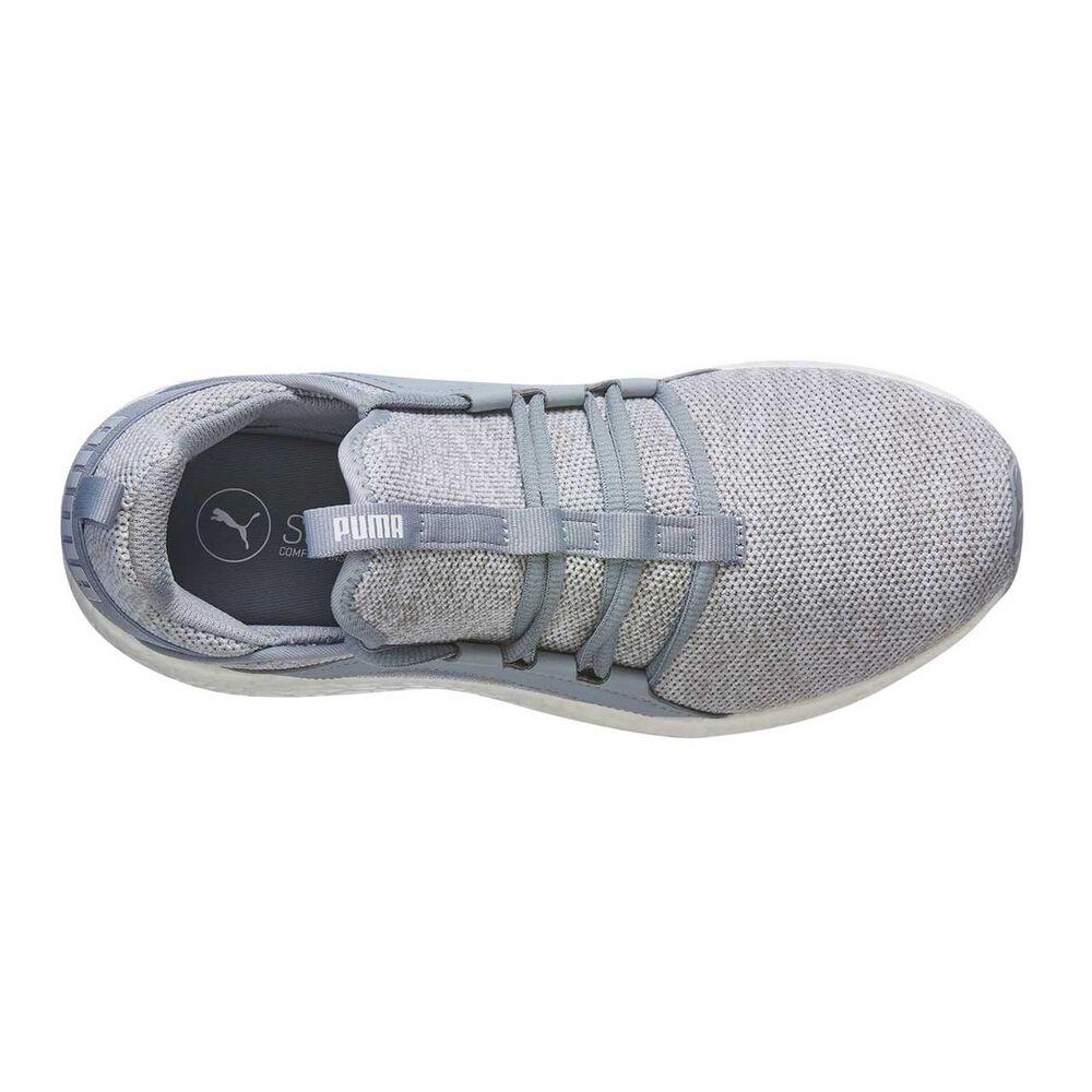 213df9480ef242 Puma Mega NRGY Knit Womens Running Shoes Grey   Black US 6
