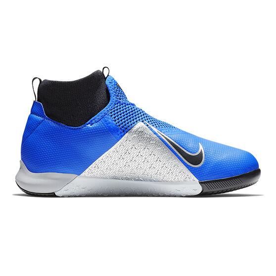 Nike Phantom Vision Academy Junior Indoor Soccer Shoes Blue / Black US 4, Blue / Black, rebel_hi-res