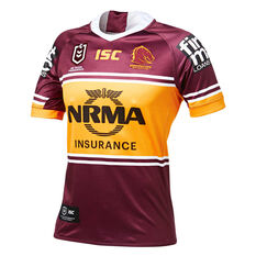 Brisbane Broncos 2019 Mens Home Jersey Maroon   Yellow S a6a439a63