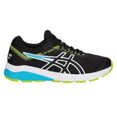 Asics GT 1000 7 Kids Running Shoes Black / Blue US 4, Black / Blue, rebel_hi-res