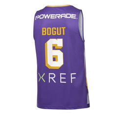 Sydney Kings Andrew Bogut 2019/20 Mens Home Jersey Purple L, Purple, rebel_hi-res