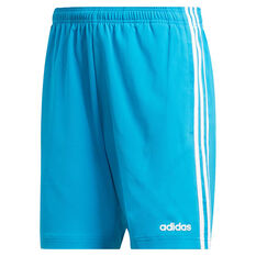 adidas Mens Essentials 3-Stripes Chelsea 7in Shorts Blue / White S, Blue / White, rebel_hi-res