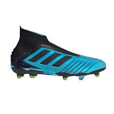 adidas Predator 19+ Football Boots Blue / Black US Mens 7 / Womens 8, Blue / Black, rebel_hi-res