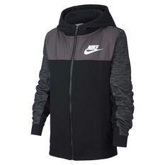 abb68f920 Nike Boys Full Zip Advance Hoodie Black   Grey XS