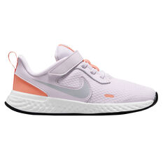 Nike Revolution 5 Kids Running Shoes Lilac/White US 11, Lilac/White, rebel_hi-res