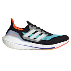 adidas Ultraboost 21 Mens Running Shoes Black/White US 7, Black/White, rebel_hi-res