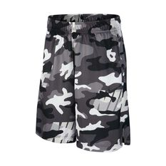 Nike Dri-Fit Boys Camo Shorts White / Grey XS, White / Grey, rebel_hi-res