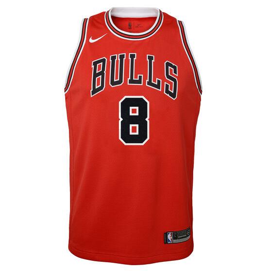 Nike Chicago Bulls Zach LaVine Icon 2019 Kids Swingman Jersey, Red, rebel_hi-res
