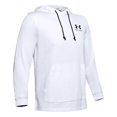 Under Armour Mens Sportstyle Terry Hoodie White XS, White, rebel_hi-res