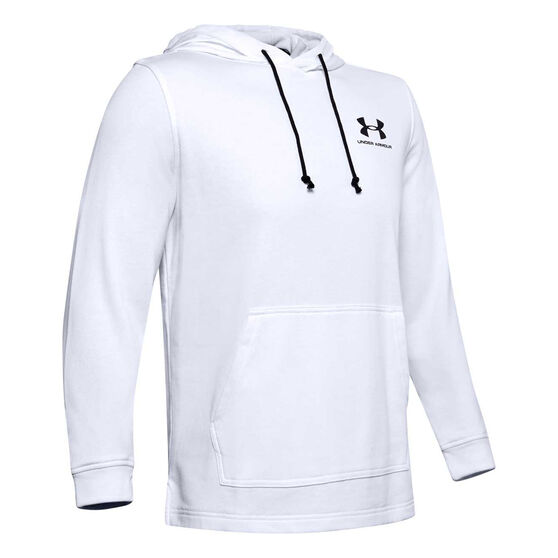 Under Armour Mens Sportstyle Terry Hoodie, White, rebel_hi-res