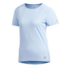 adidas Womens Run Tee, Blue, rebel_hi-res