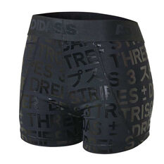 adidas Womens Alphaskin Sport Short Tights Black XS, Black, rebel_hi-res