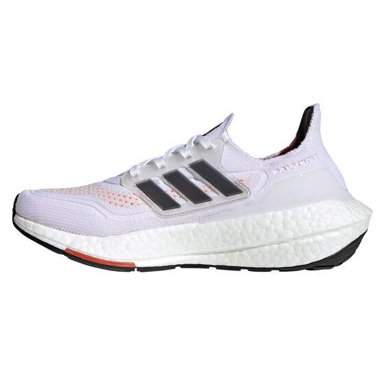 adidas Ultraboost 21 Kids Running Shoes, White/Red, rebel_hi-res
