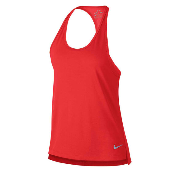 Nike Womens Miler Running Tank Red L, Red, rebel_hi-res