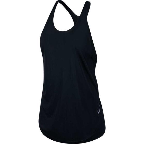 Nike Womens City Sleek Tank, Black, rebel_hi-res